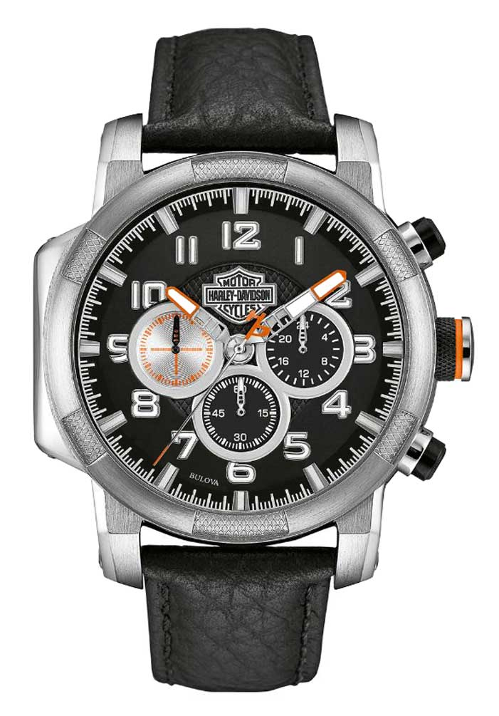 Harley Davidson Mens Chronograph Motorcycle Piston Watch
