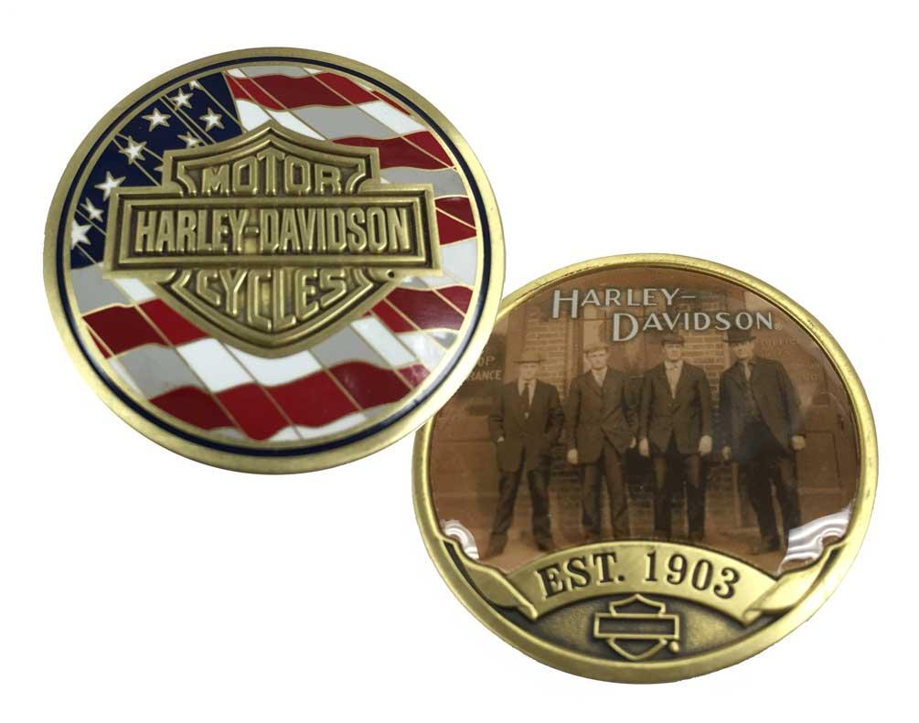 harley davidson originals challenge coin bar shield est 1903 coin 8003456 ebay. Black Bedroom Furniture Sets. Home Design Ideas