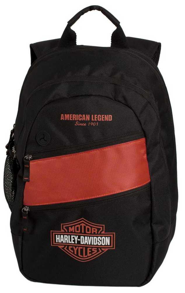 harley davidson mens freedom backpack bp1945s orgblk ebay. Black Bedroom Furniture Sets. Home Design Ideas