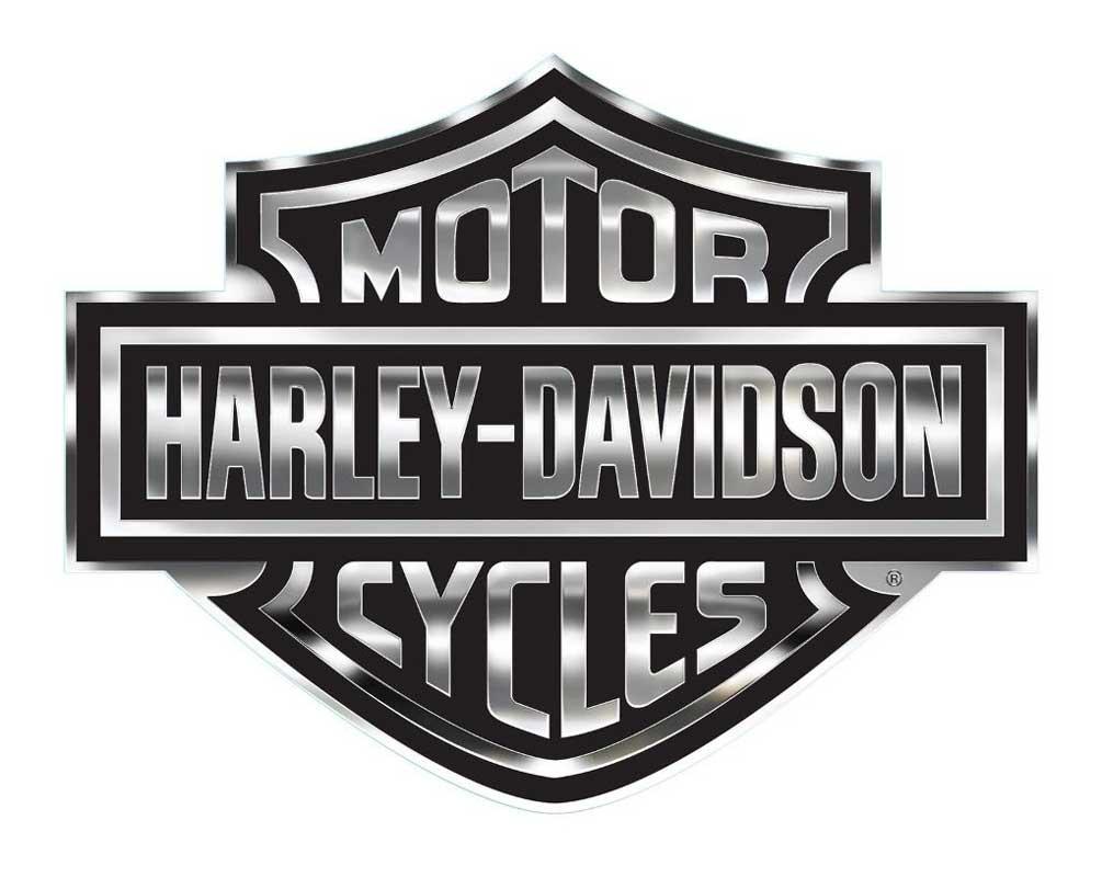 Harley-Davidson Decal, Chrome Bar & Shield Logo, X-Large