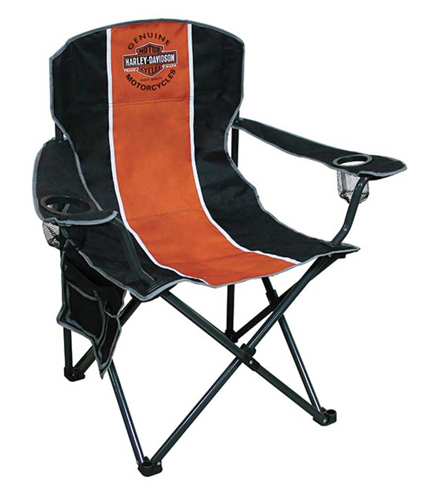 Harley Davidson Bar Shield Compact Chair X Large Size W Carry Bag CH3