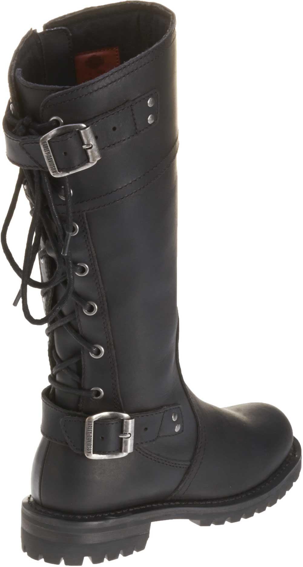 harley davidson s back lace black leather