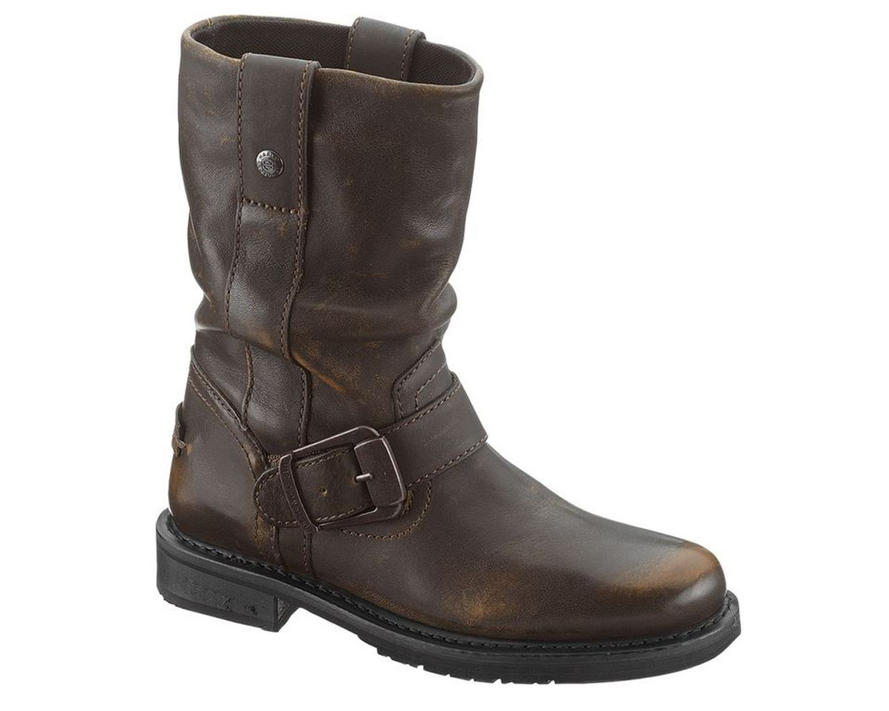 New Women?s Xelement Brown Lace Up Motorcycle Boots