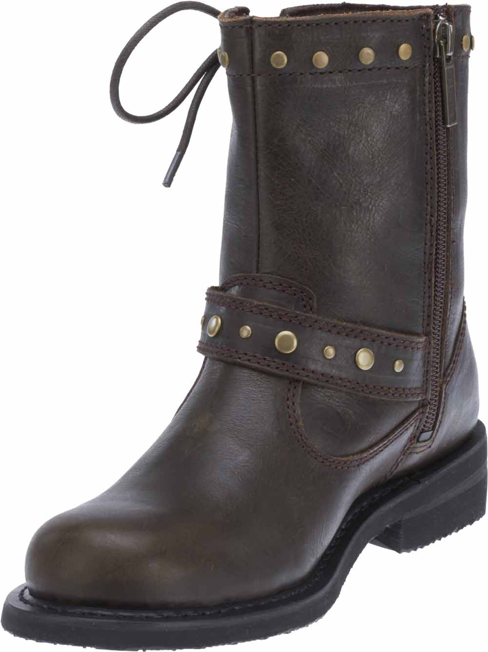 Simple Harley Davidson Womens Felicity Motorcycle Boots Buckl Brown | EBay
