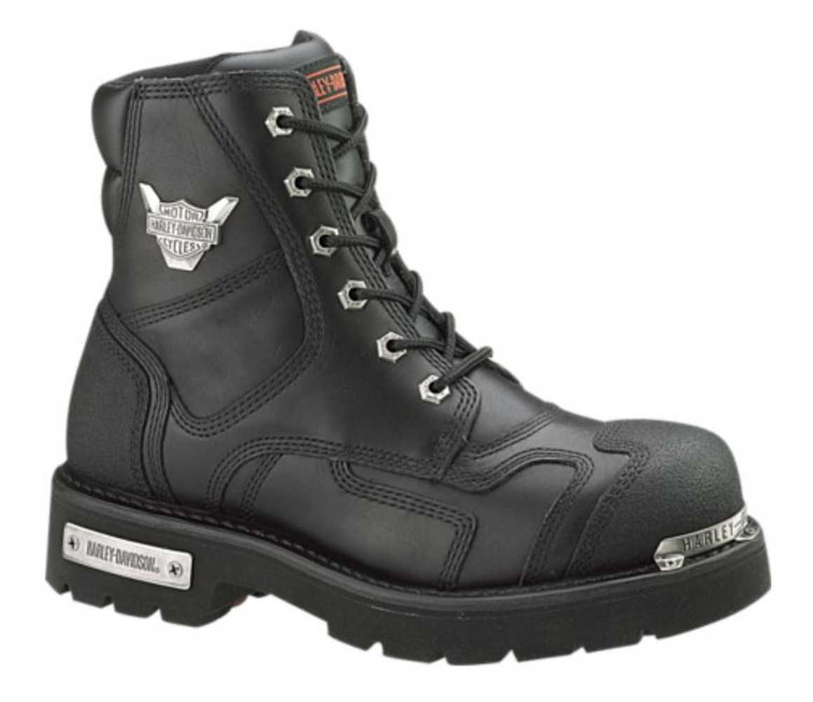 Harley-Davidson Men's Stealth Motorcycle Boots. Patch Lace Black ...