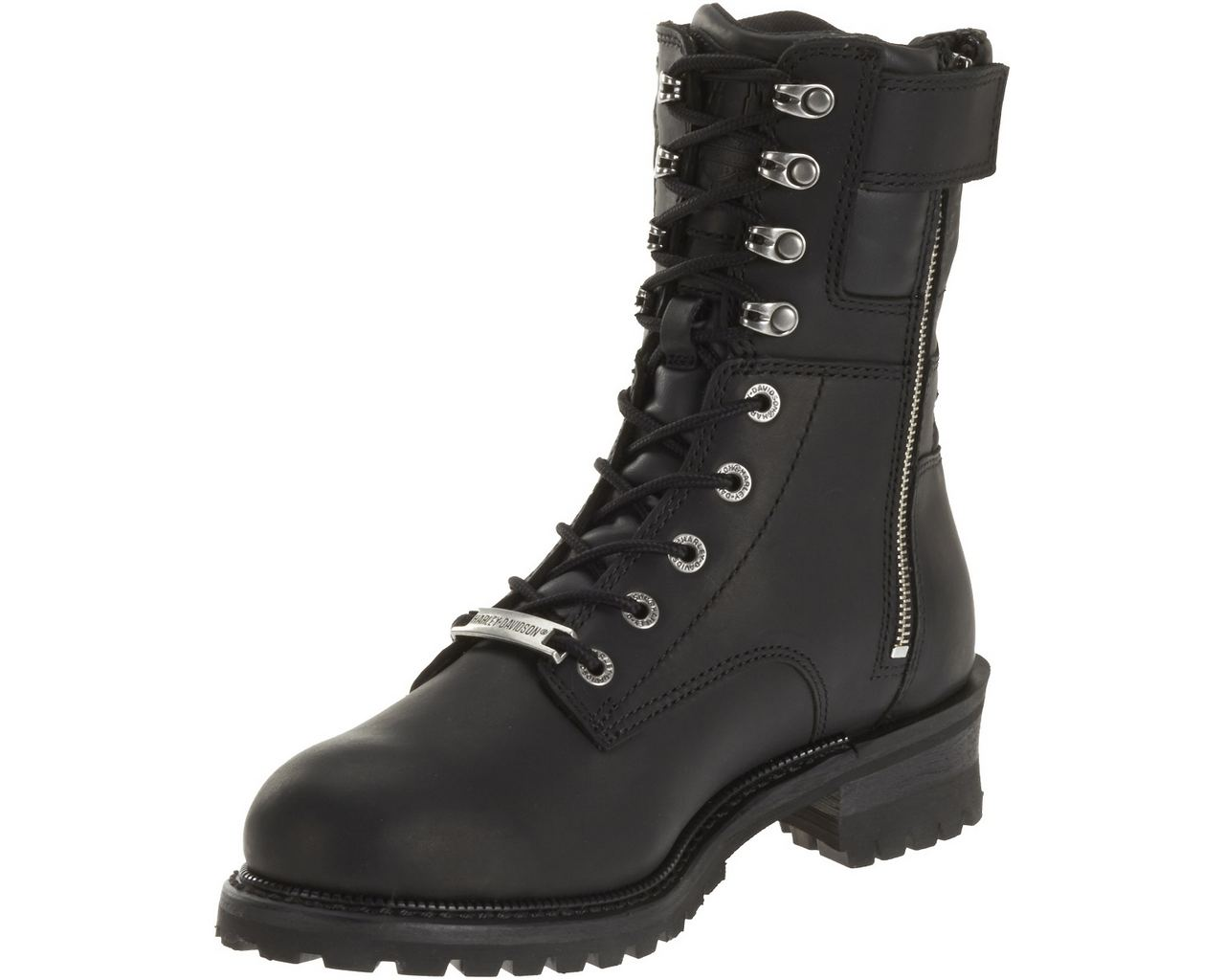 harley davidson s elson black leather motorcycle boots