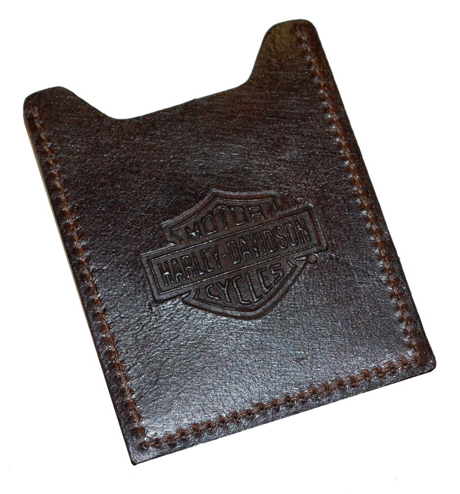 Harley-Davidson Harley-Davidson Men's Brown Leather Embossed Money Clip HD957-2C