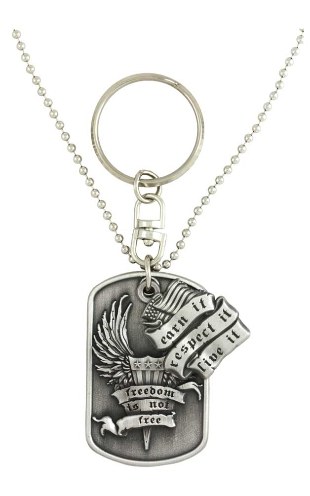 Harley Davidson Dog Tag Freedom Is Not Free Bar Amp Shield