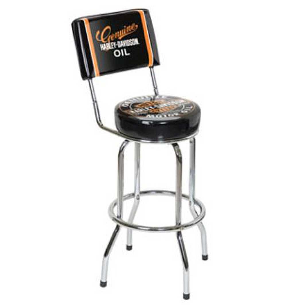 Harley Davidson Genuine Oil Can Bar Stool w Backrest HDL  : hdl 122031 from www.ebay.com size 1001 x 1071 jpeg 36kB
