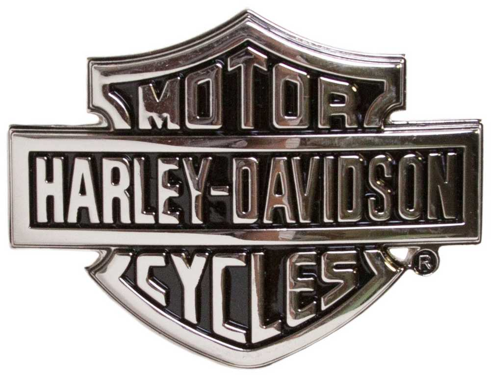 Harley Davidson Emblem: Harley-Davidson Men's Chrome Bar & Shield Logo Belt Buckle