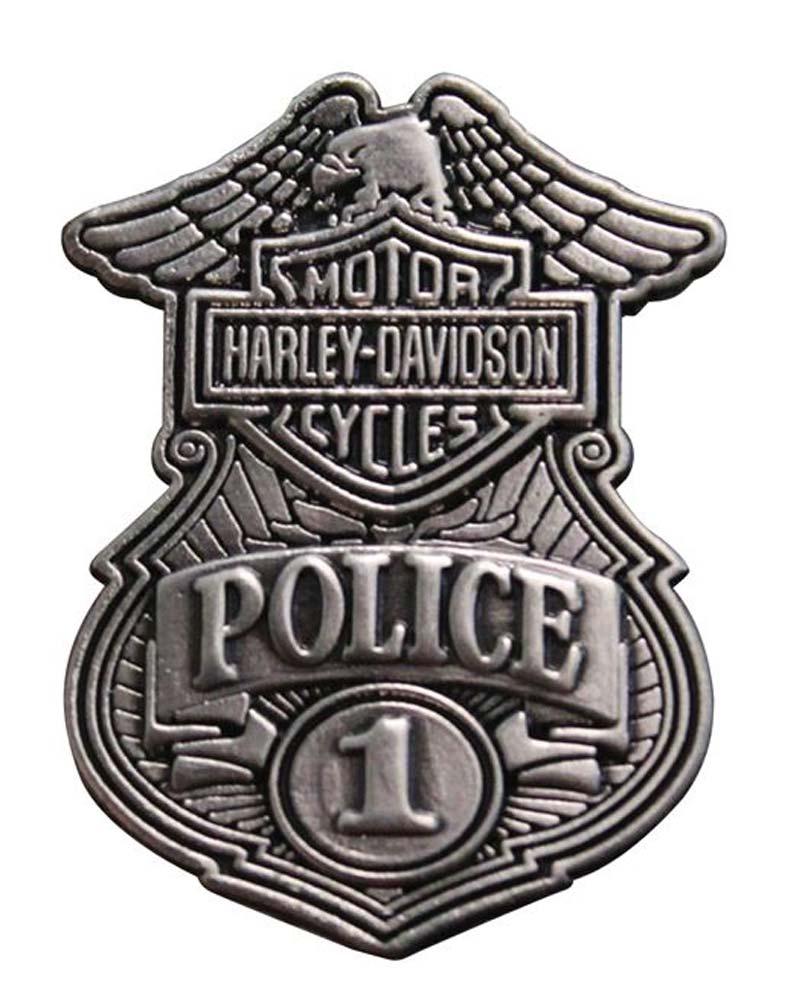 Harley Davidson Police Original Antique Nickel Pin 1 1 8