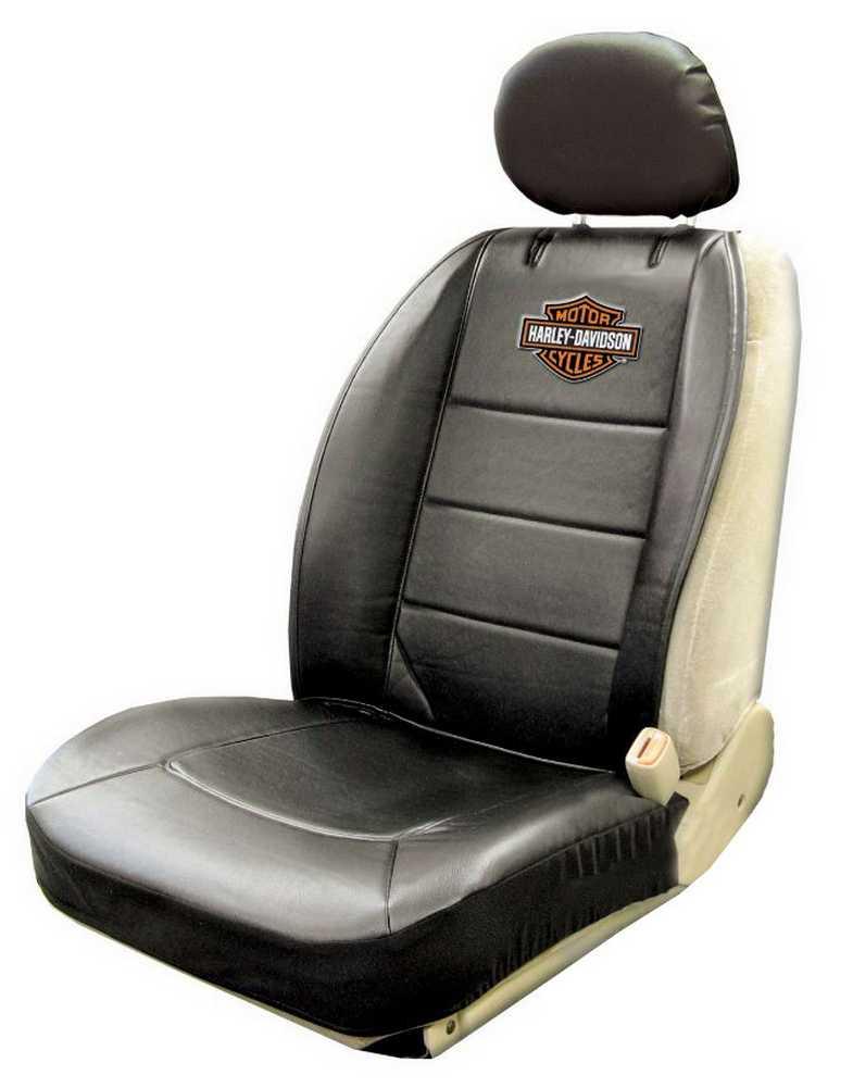 Harley davidson seat cover black bar shield logo sideless single p8589 ebay - Sigle harley davidson ...