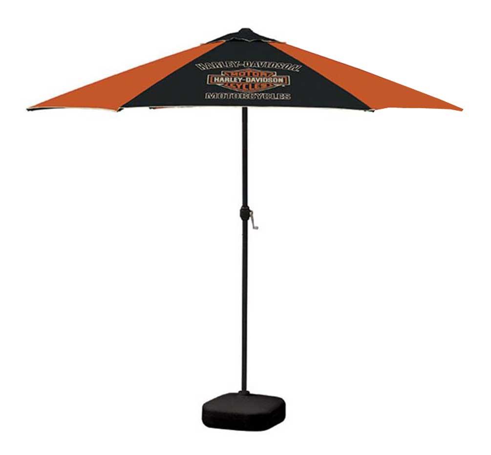 Harley-Davidson Bar & Shield Patio Umbrella, 8ft Pole