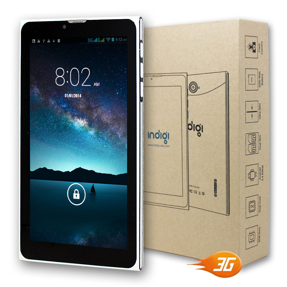 """ANDROID 4.4 SMARTPHONE 3G+WIFI 7"""" PHABLET AT&T T-MOBILE UNLOCKED - 3 Free Extras 5"""