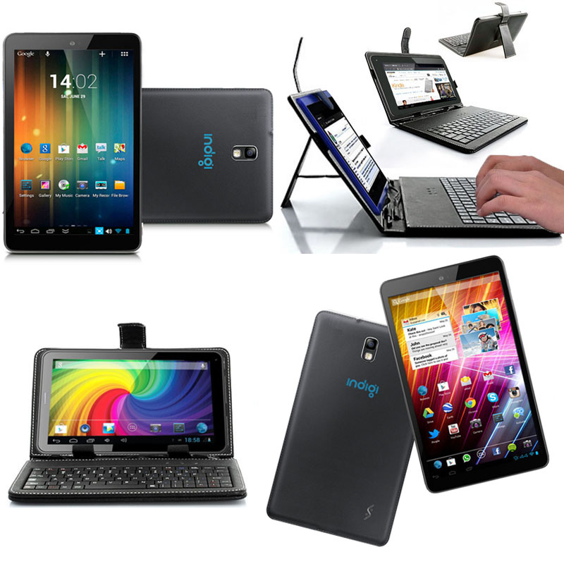 Indigi� 7-in Dual Core Tablet PC Android 4.2 Free Keycase WiFi HDMI Premium Leather Back [Black] at Sears.com