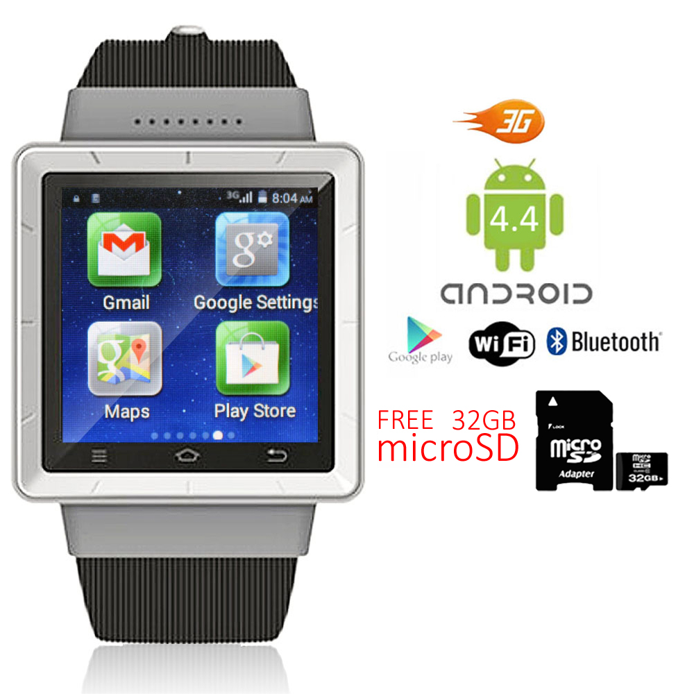 Camera Watch Cell Phone Android unlocked android 4 smart watch cell phone 3g wifi bluetooth os 1 54 inch capacitive ogs touchscreen 240240 pixels gps location g sensor support sms
