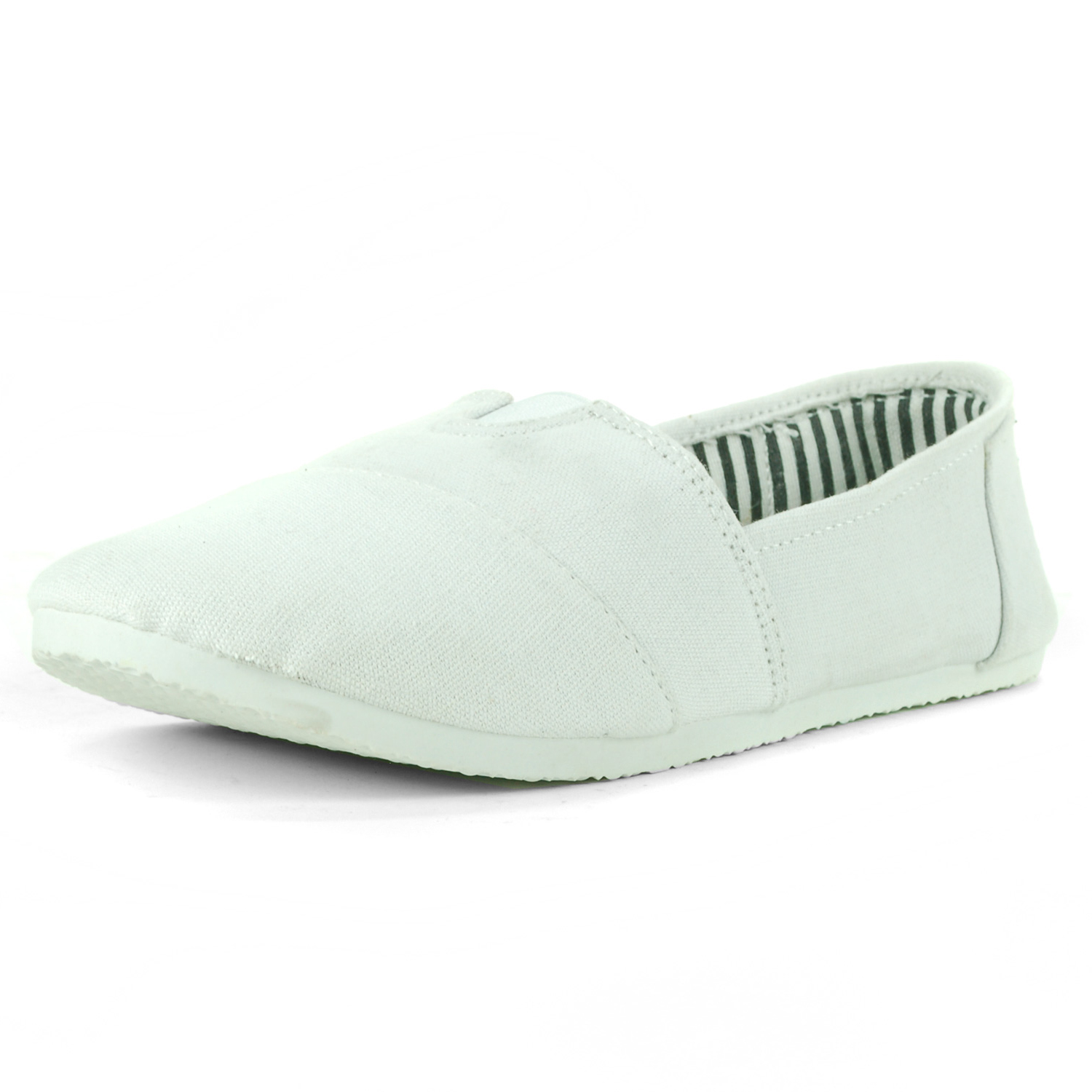 womens canvas ballet flats slip on espadrille loafer shoes
