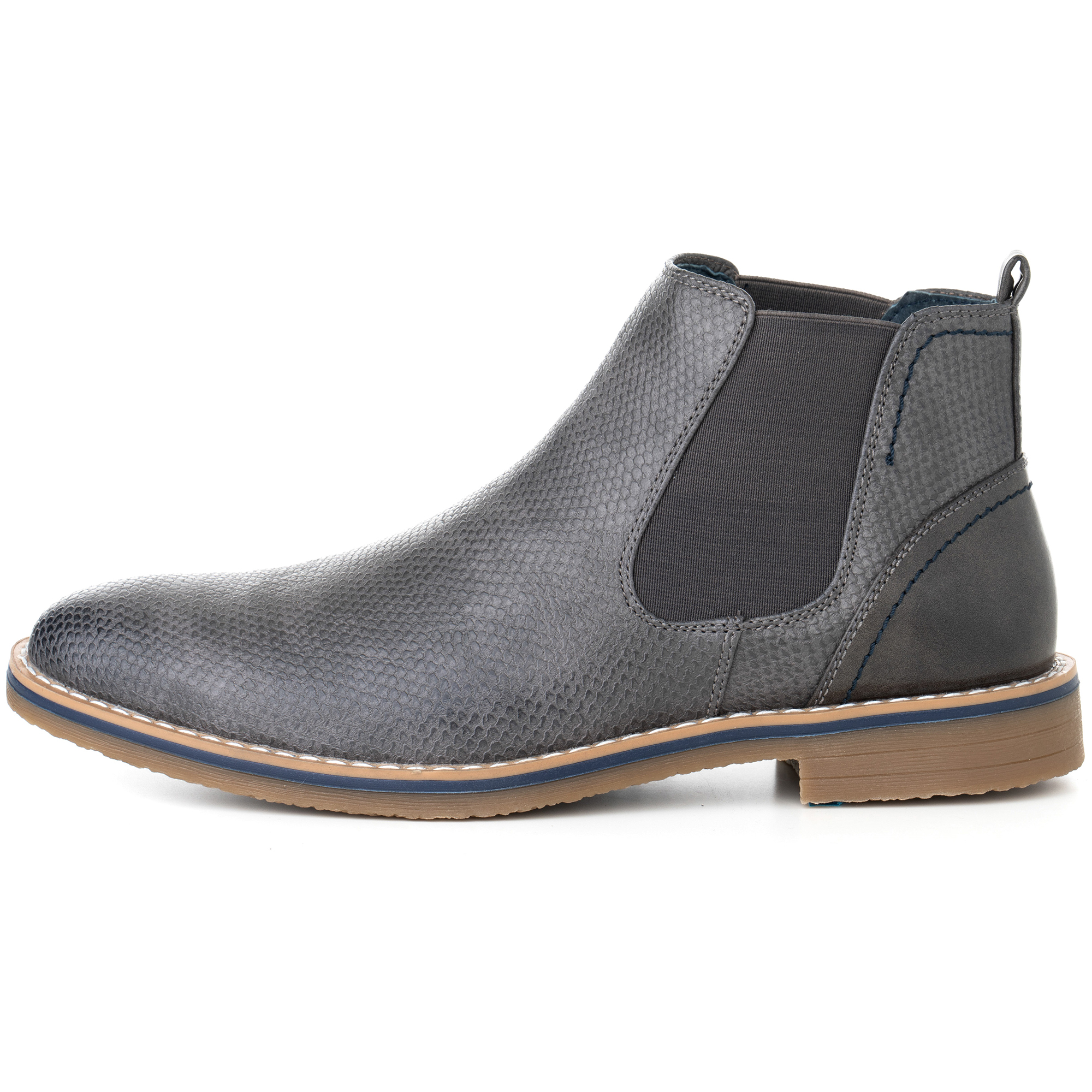 Alpine Swiss Mens Nash Chelsea Boots Snakeskin Ankle Boot Genuine Leather Lined