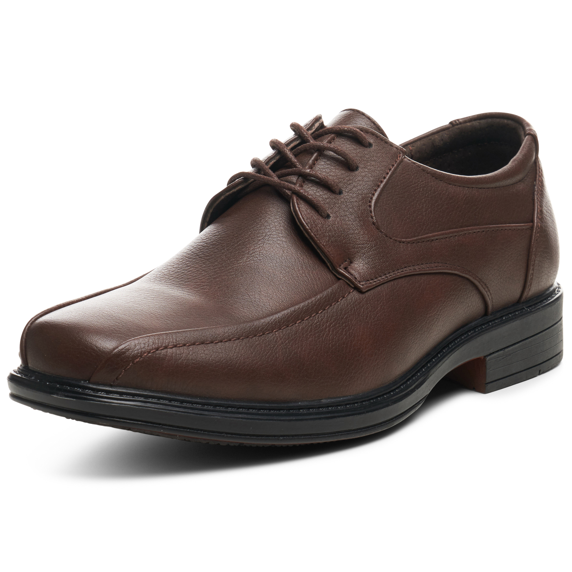 Alpine Swiss Mens Dress Shoes Brown Leather Lined Lace up Oxfords Size 10
