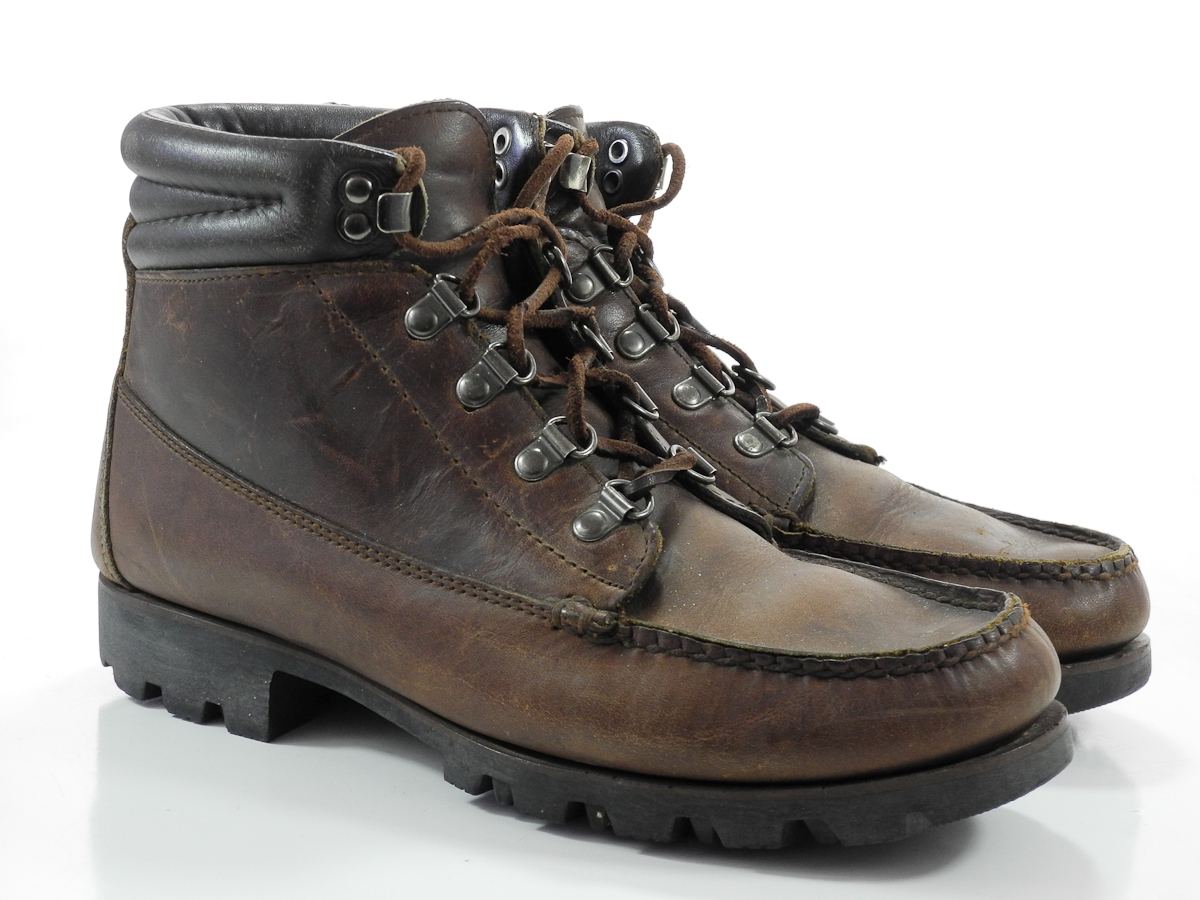 hh brown 7 5 m mens boots brown leather hiking trail