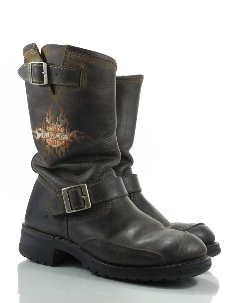 harley davidson logger conductor 8 m mens boots brown