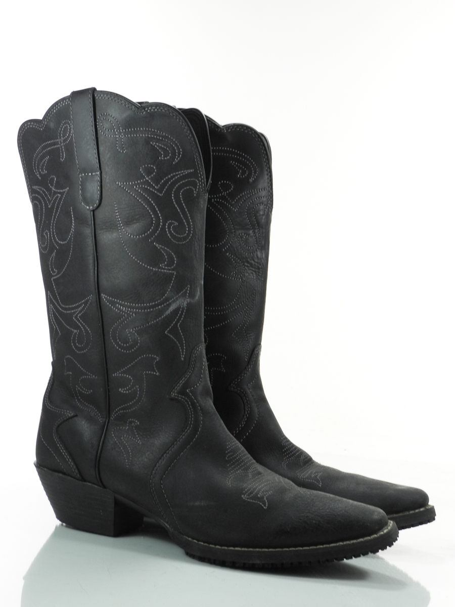shoes for crews billy 12 m mens cowboy boots black leather