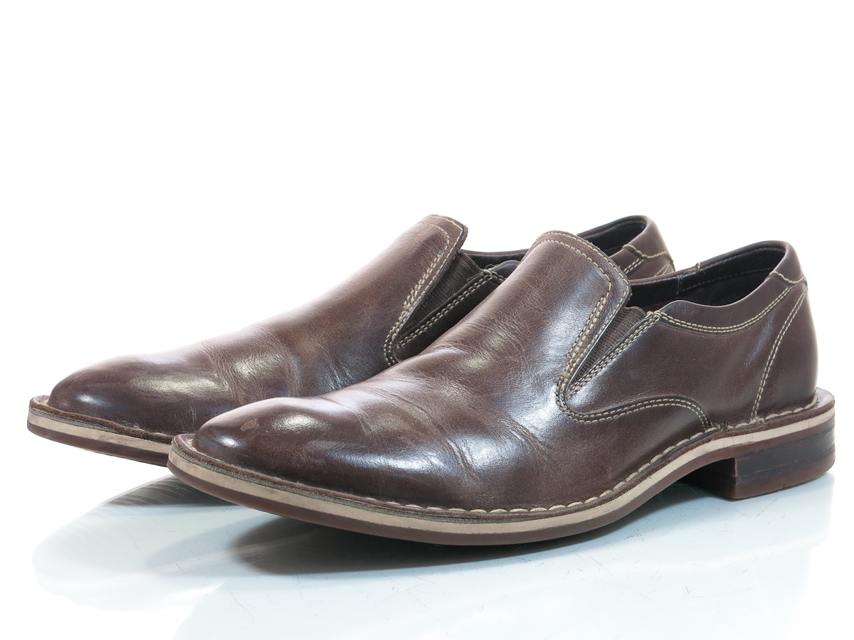 cole haan nike air stratton 8 m mens shoes brown loafers