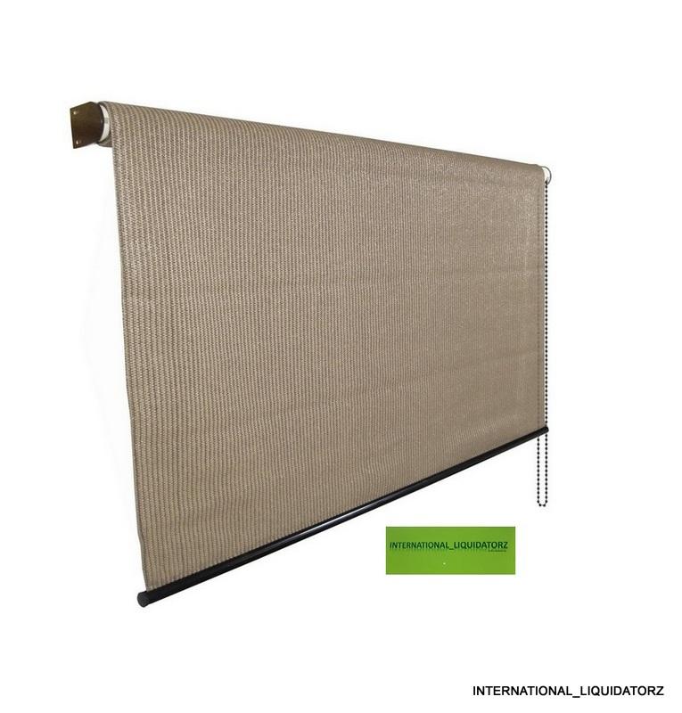 Exterior 8 Ft X 6 39 Roll Up Solar Window Shade Patio Door Porch Garage Shade Ebay