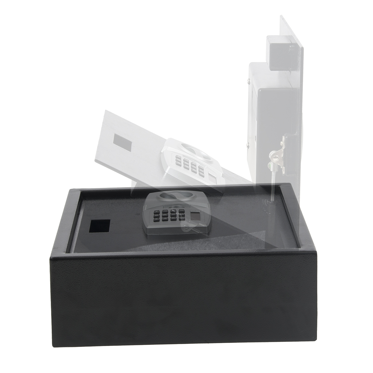 Digital LCD Lock Electronic Keypad Top-Opening Safe ...