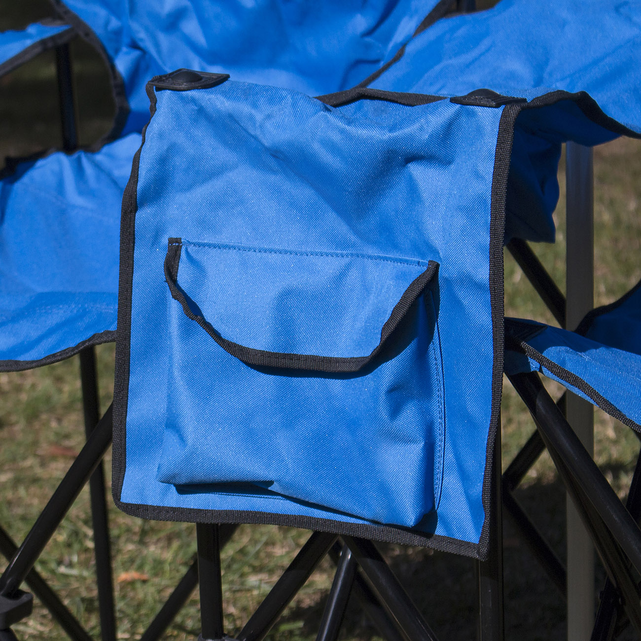 Picnic Fold Up Double Folding Chair W Umbrella Table