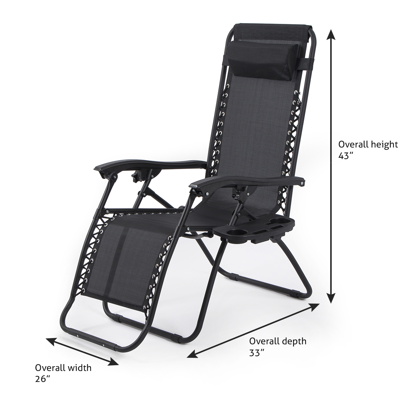 2pc Zero Gravity Chairs Lounge Patio Folding Recliner