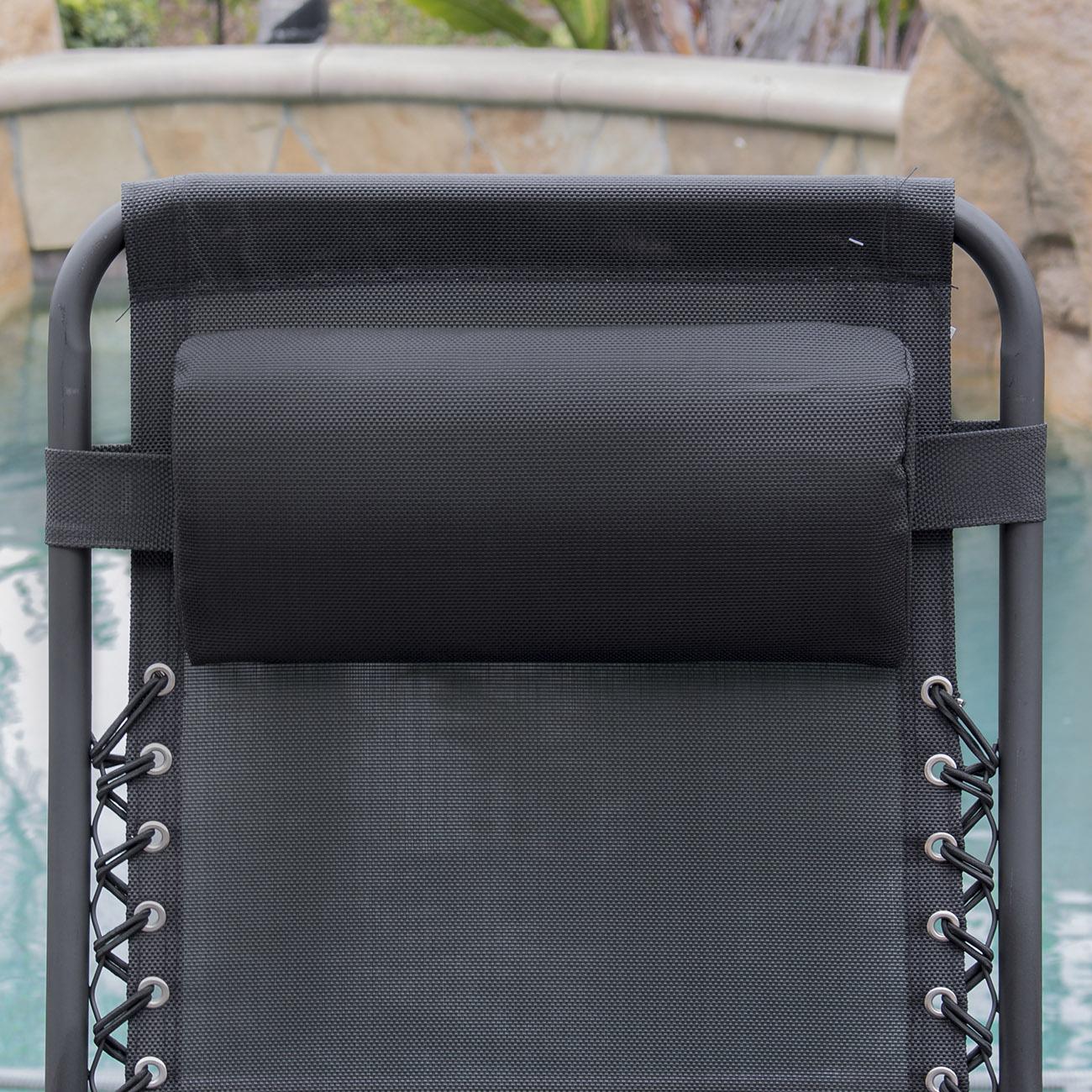 2pc Zero Gravity Chairs Lounge Patio Folding Recliner
