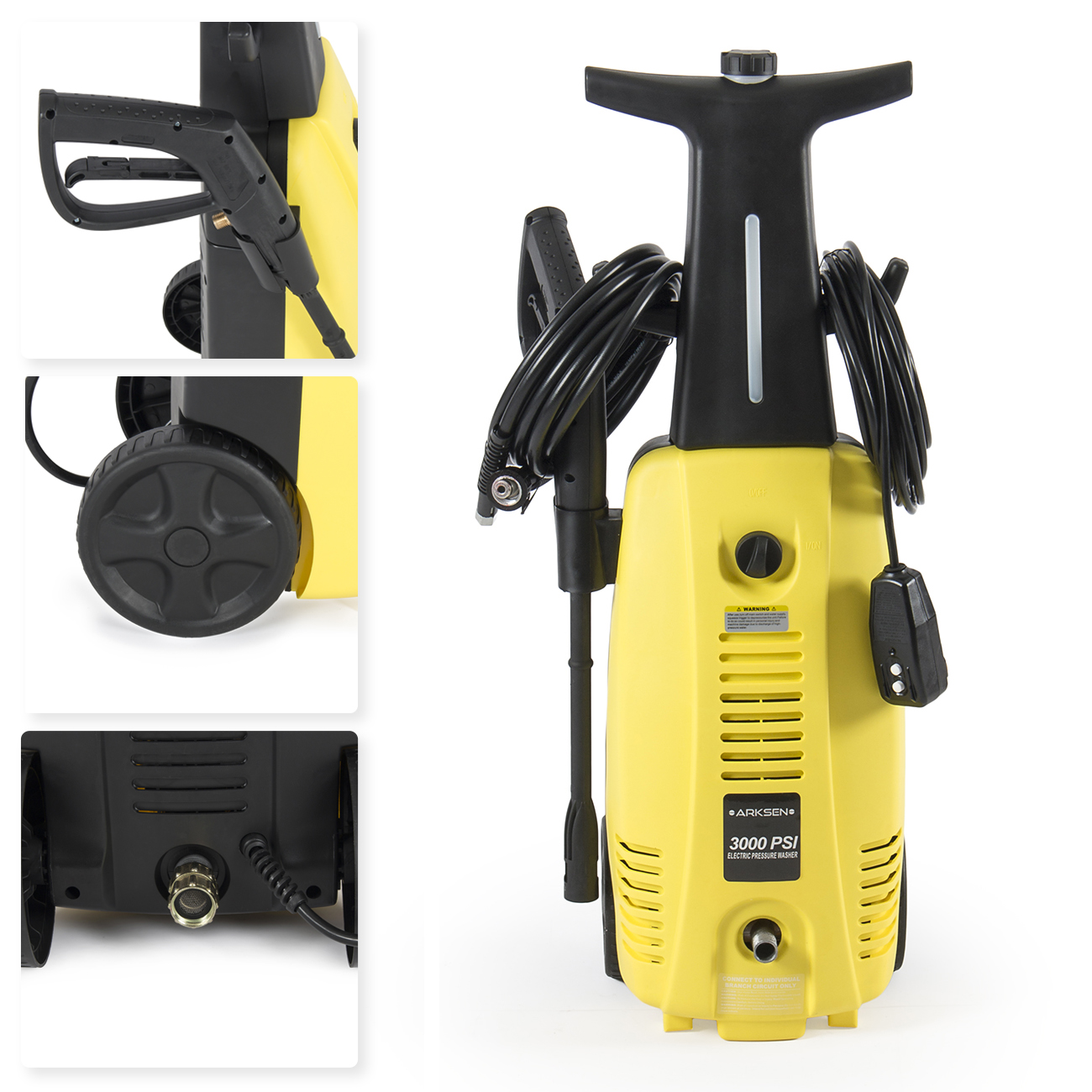 Electric High Pressure Washer 3000 Psi Burst Jet Sprayer