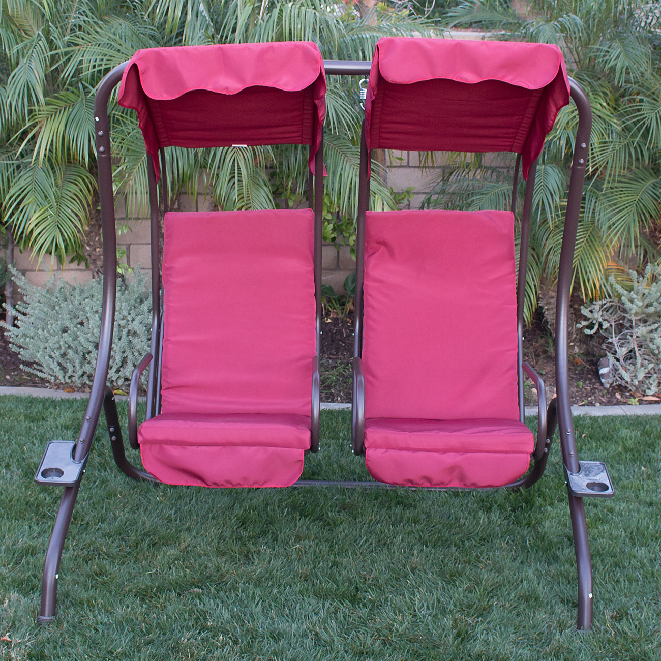 NEW Outdoor Double Swing Set 2 Person Canopy