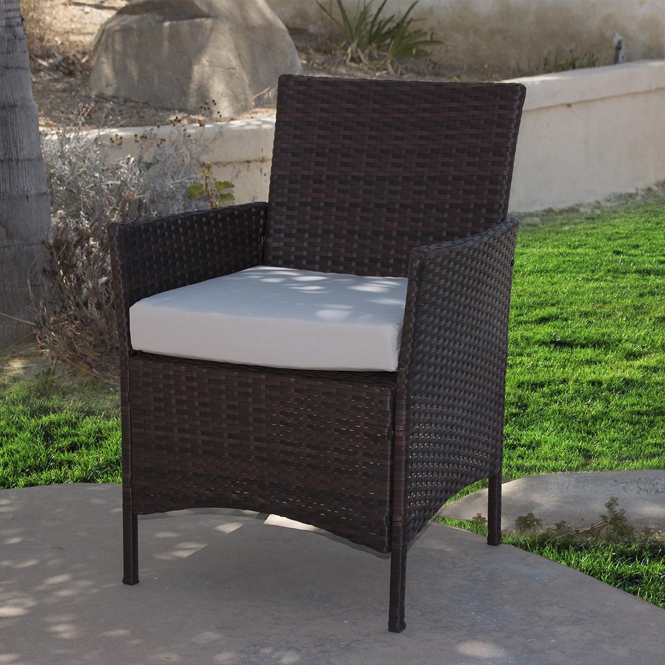 4pcs Outdoor Rattan Wicker Patio Garden Sofa Couch Furniture Set Dark Brown New Ebay