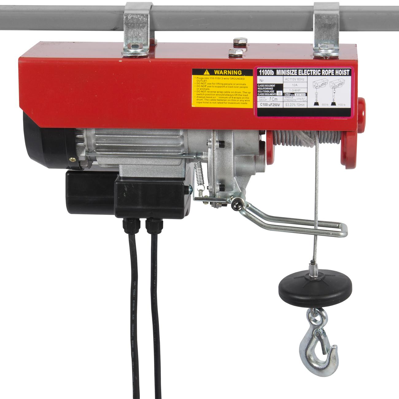 Electric Cable Hoist : Industrail electric wire hoist remote control garage shop