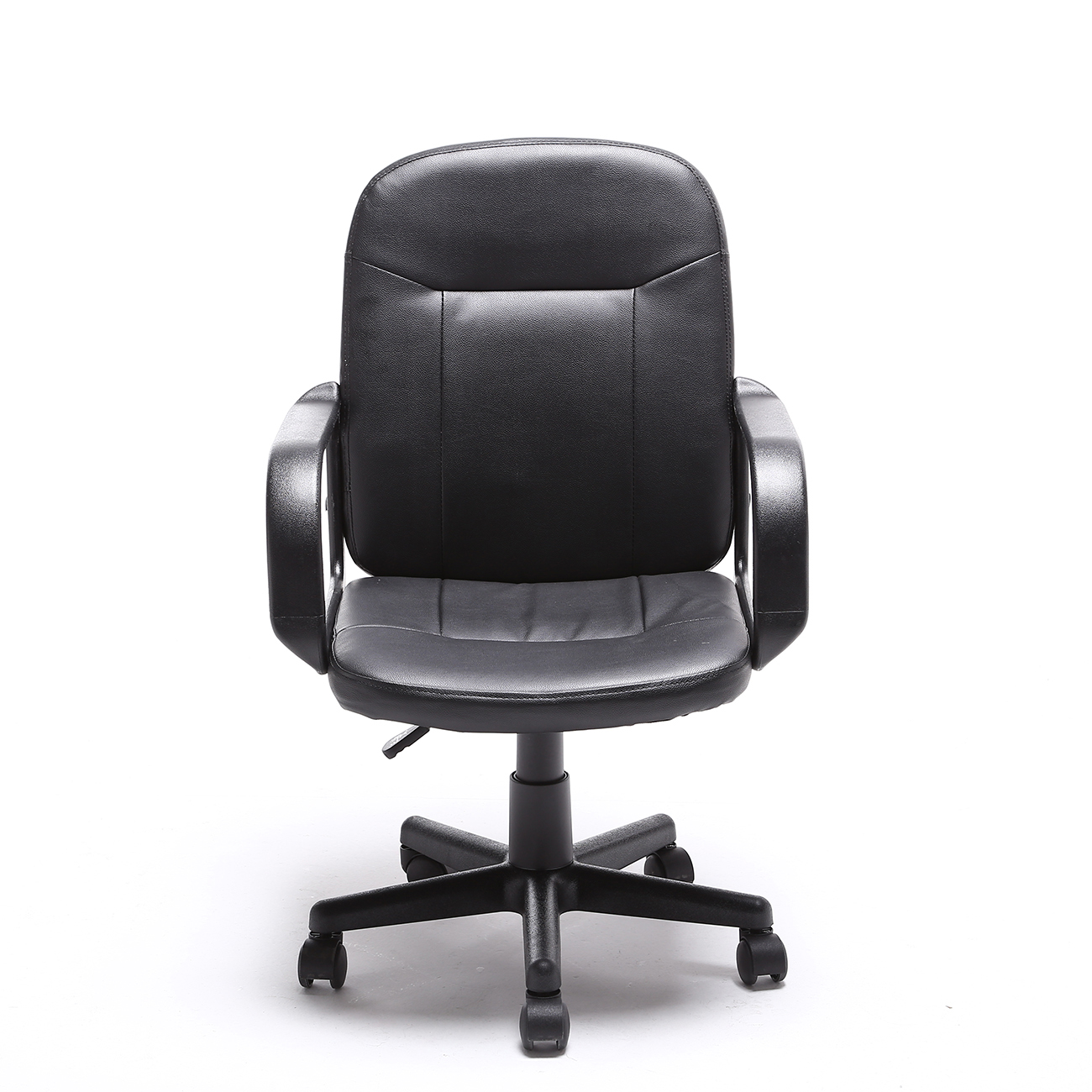 black modern office executive chair pu leather computer desk task hydraulic new ebay. Black Bedroom Furniture Sets. Home Design Ideas