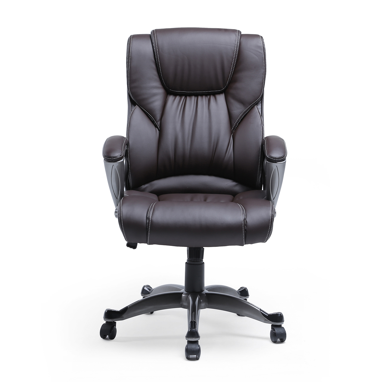 Luxury High Brown PU Leather Executive Office Chair Desk Task Computer Boss