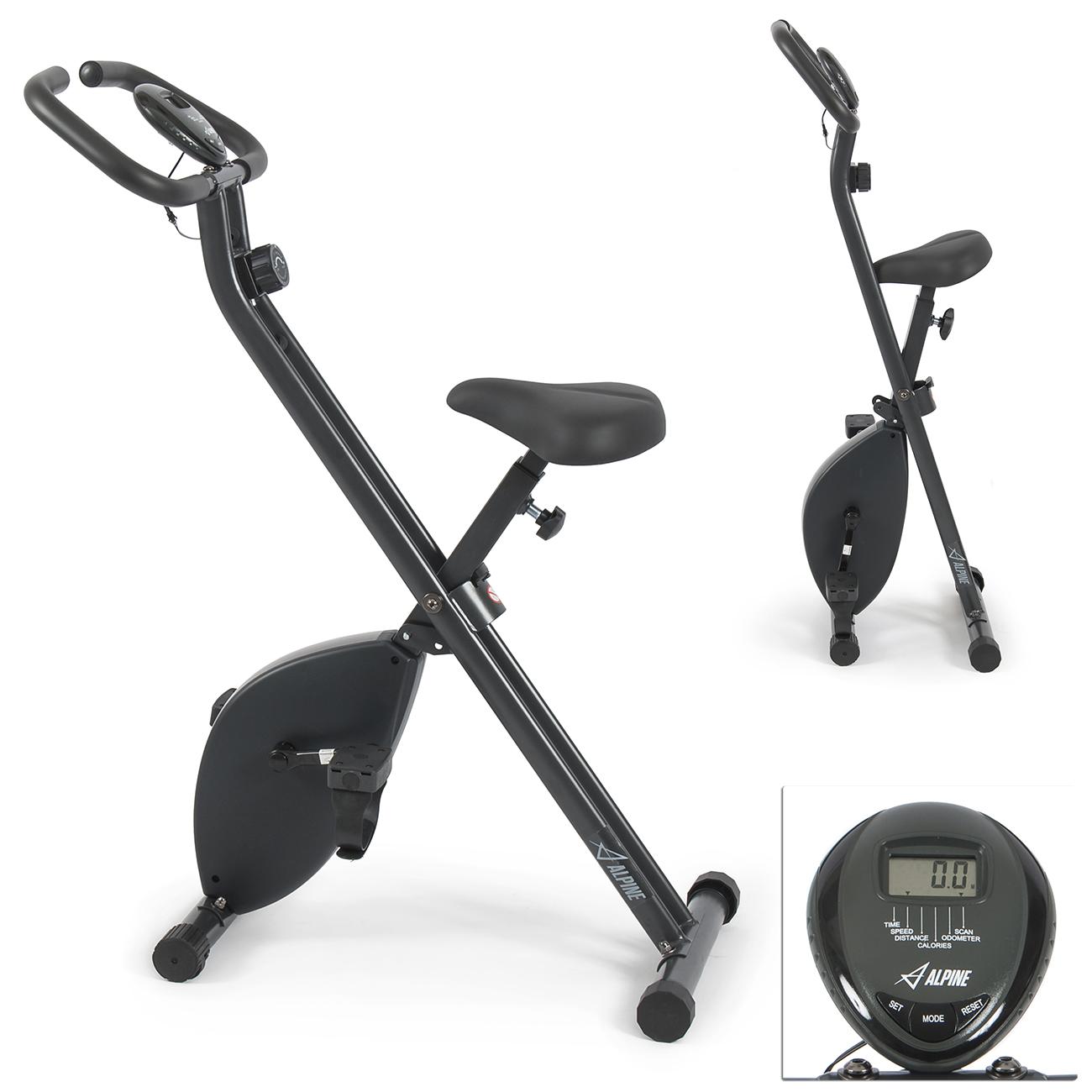 Exercise Bike Display: Exercise Folding Magnetic Bike Gym Cycling Cardio