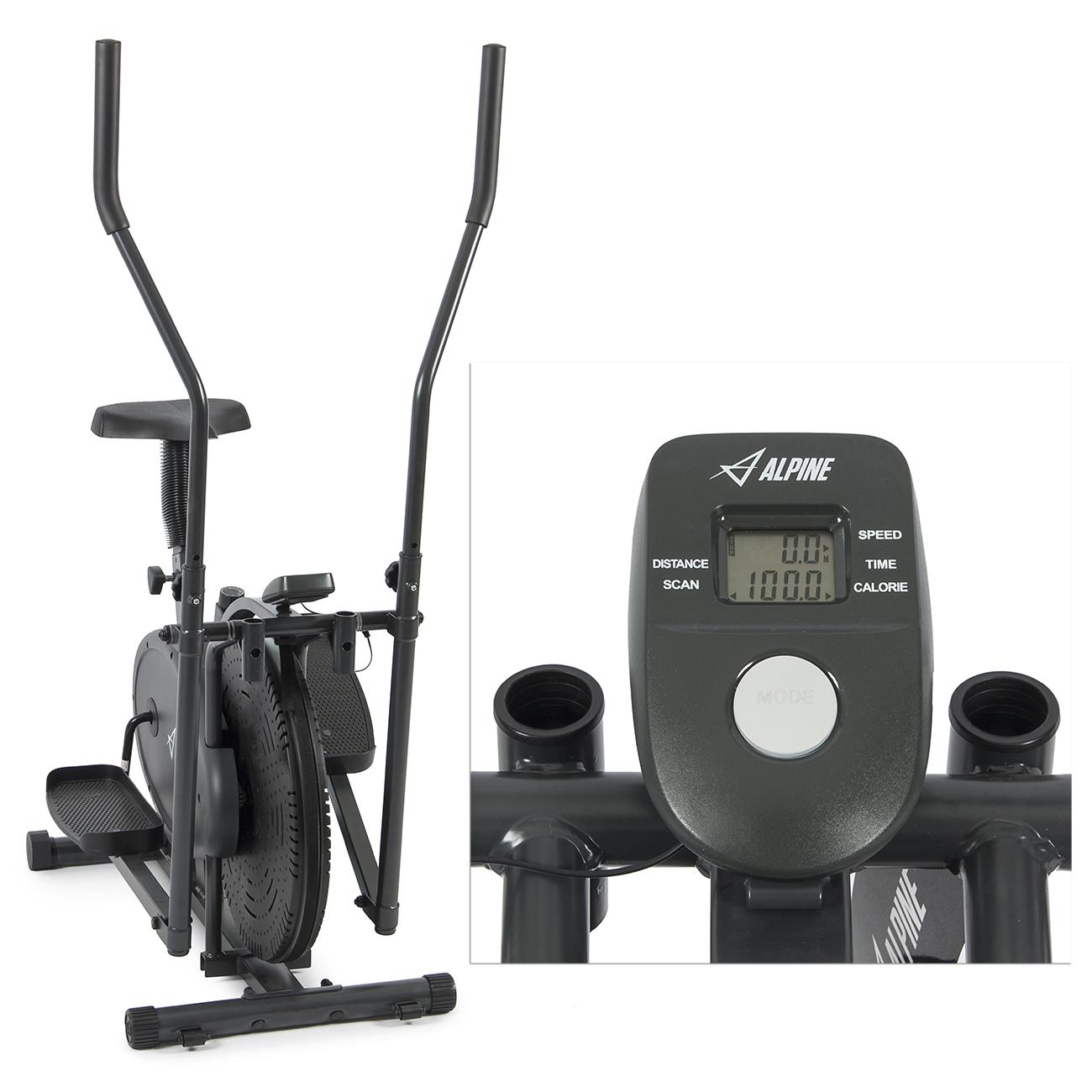 Elliptical Bike That Moves: 2 IN 1 Elliptical Exercise Bike Cross Trainer Fitness