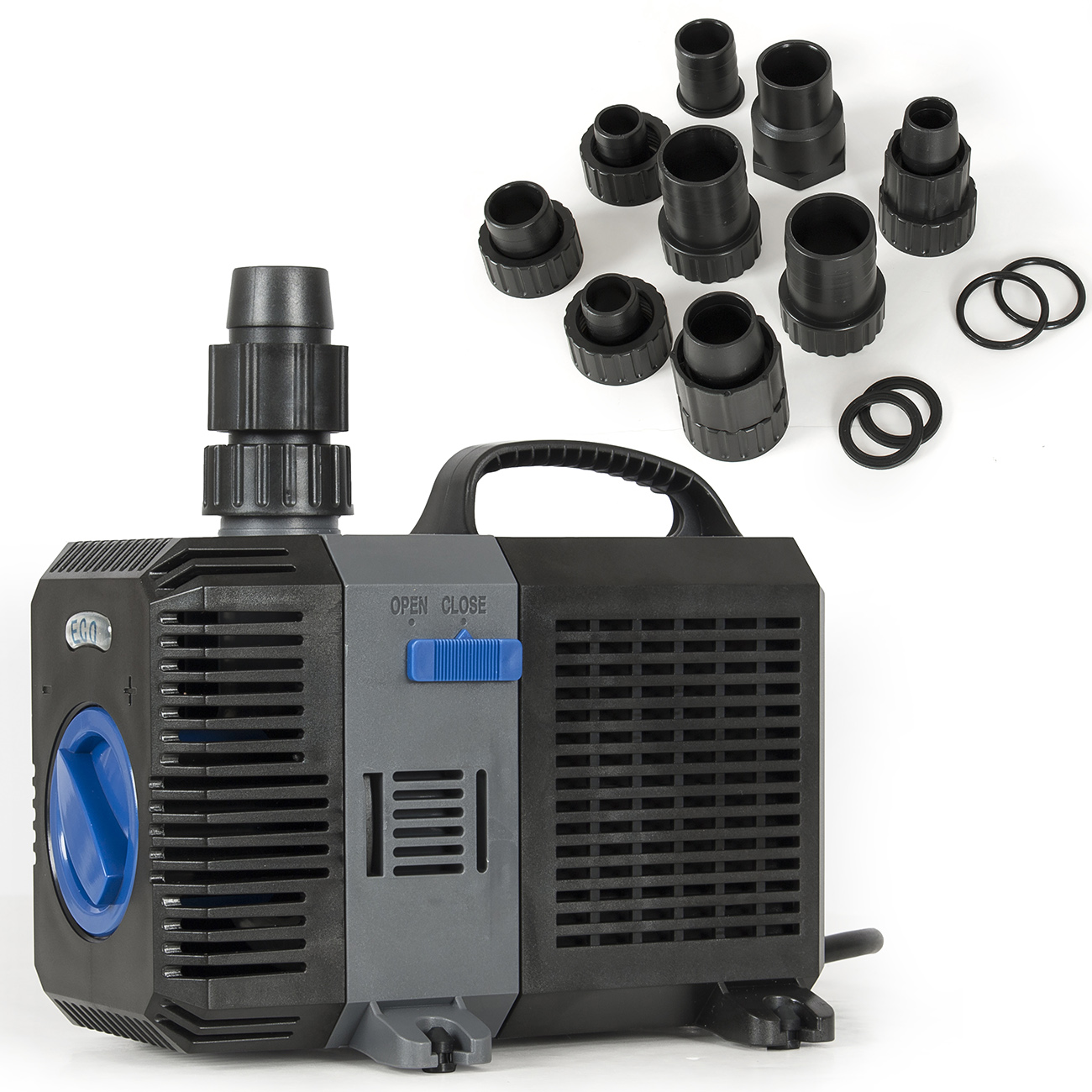 Submersible fountain 2100 gph pond pump waterfall koi for Submersible pond pump with filter