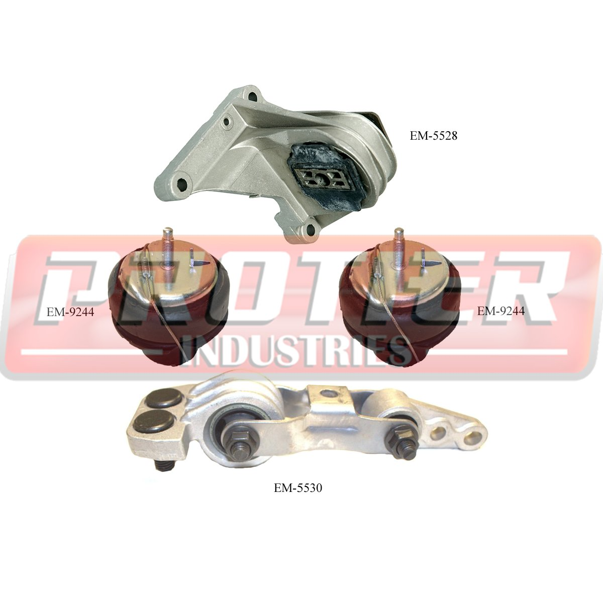 2006 Volvo V70 Transmission: Engine Motor & Trans Mount Set 2001-2009 Volvo S60 S80 V70