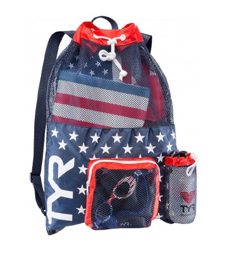 Swim Gear Bag: TYR BIG Mesh Equipment Backpack Mummy Bag Pack Bag For Wet