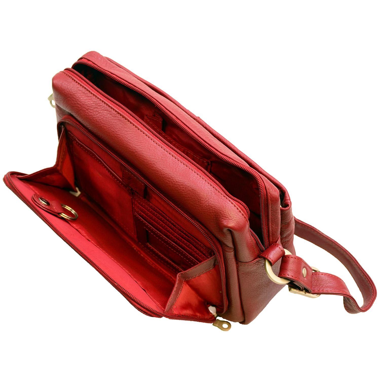 Popular Womens Medium Shoulder Bag Built-In Wallet Genuine Leather | EBay