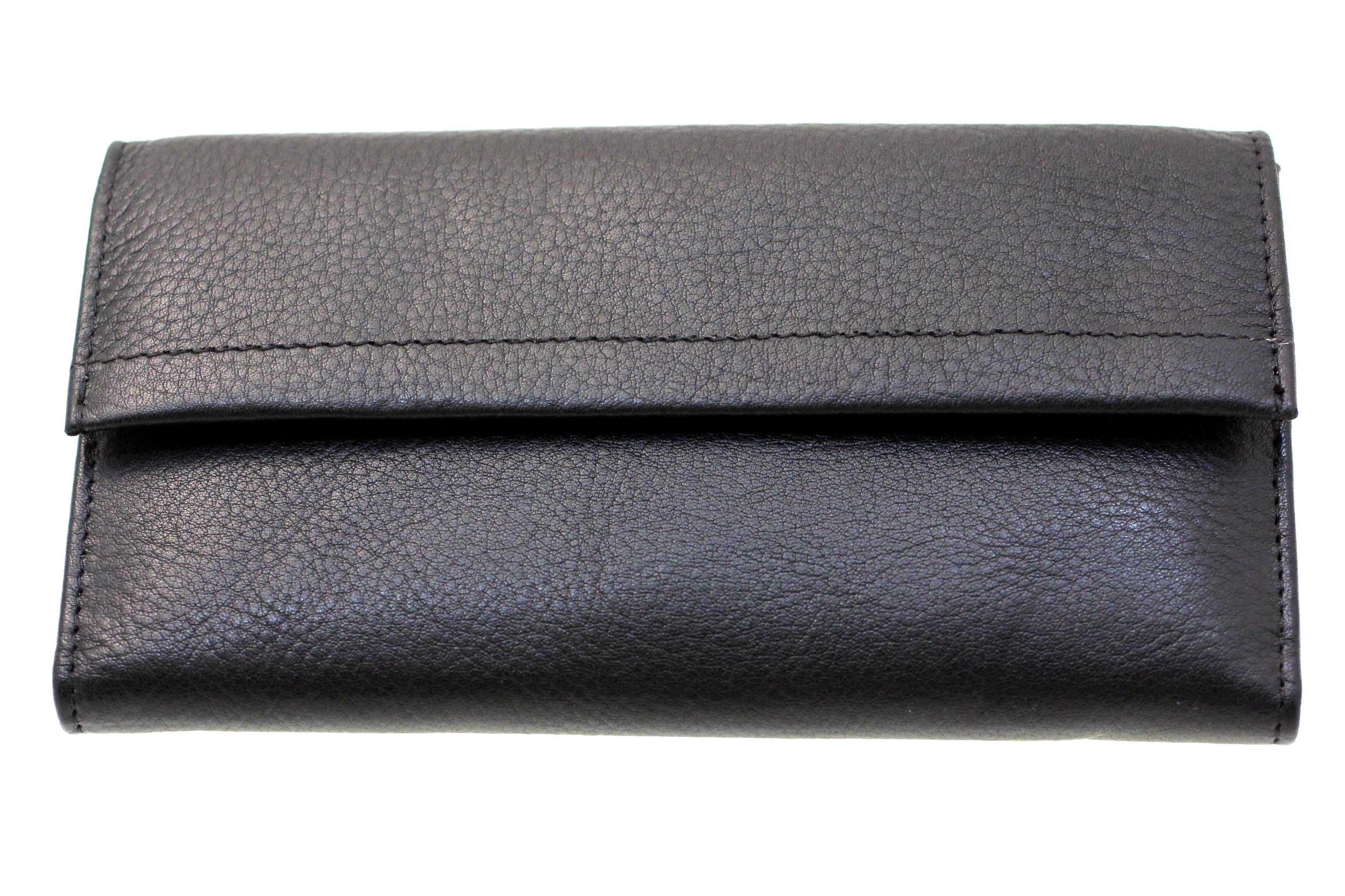 womens genuine leather clutch wallet removable checkbook