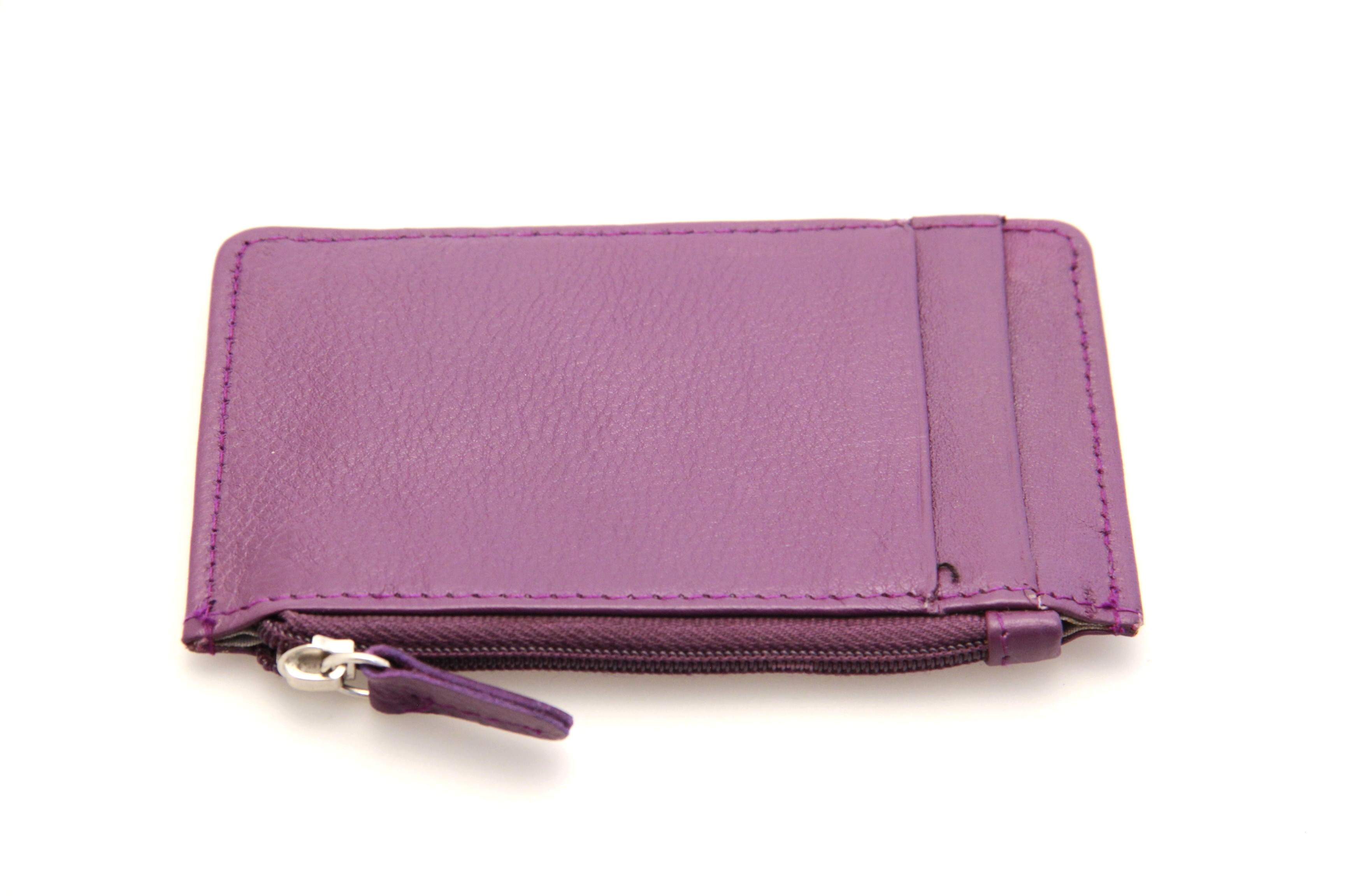 Womens Credit Card Holder Case Super Slim Genuine Leather