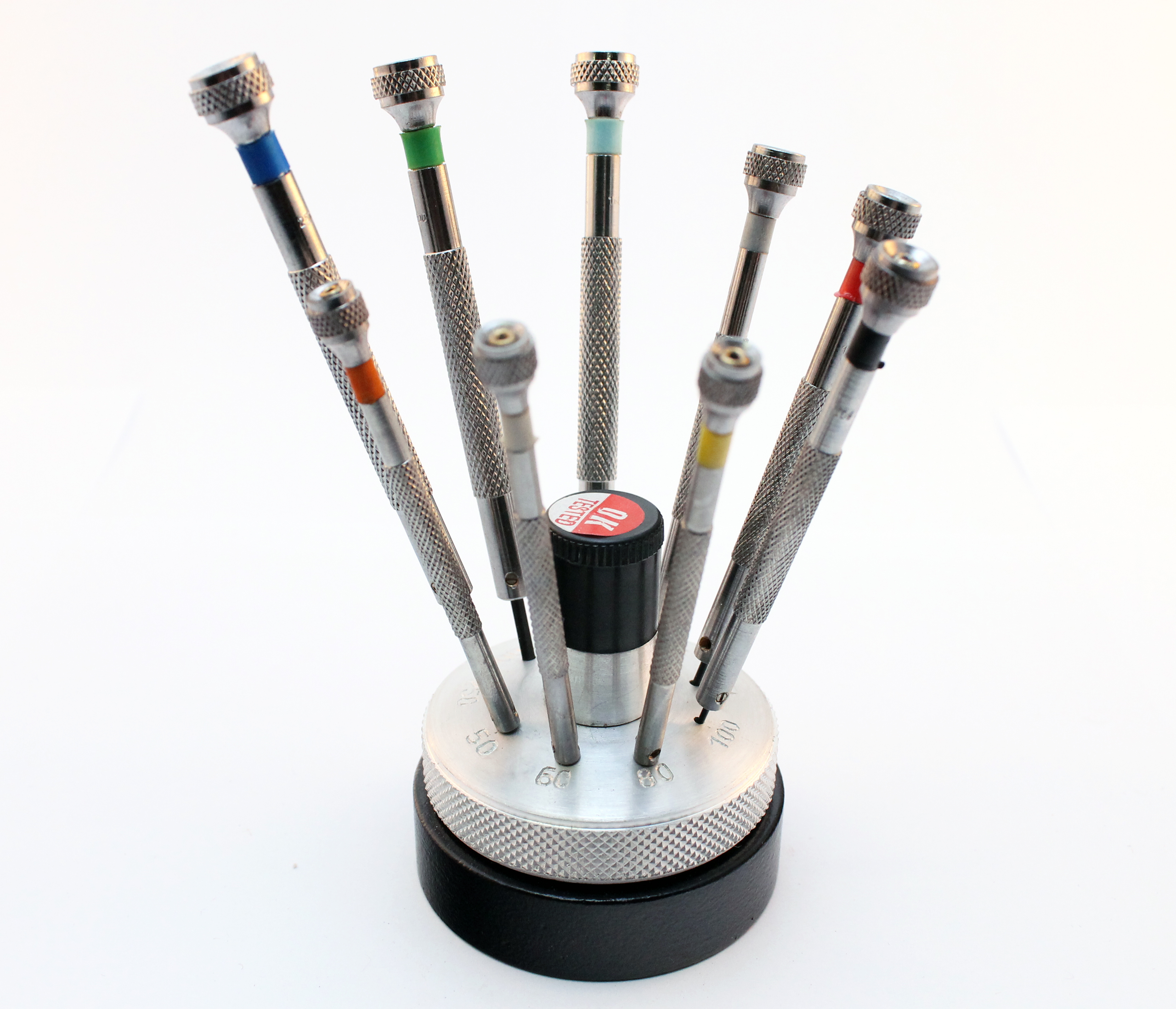 precision watch screwdriver set of 9 pcs jewelry watchmakers revolving stand ebay. Black Bedroom Furniture Sets. Home Design Ideas