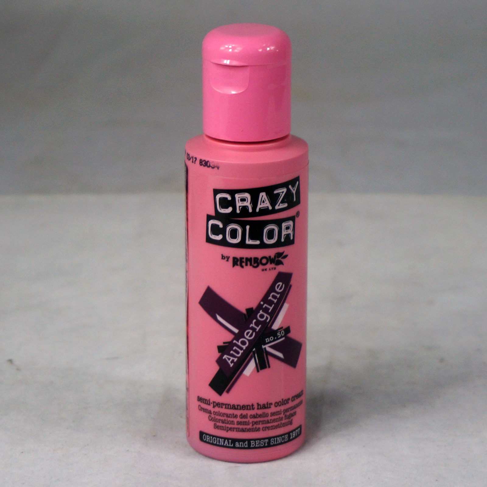 crazy color 100ml semi permanent hair dye choose - Crazy Color Aubergine