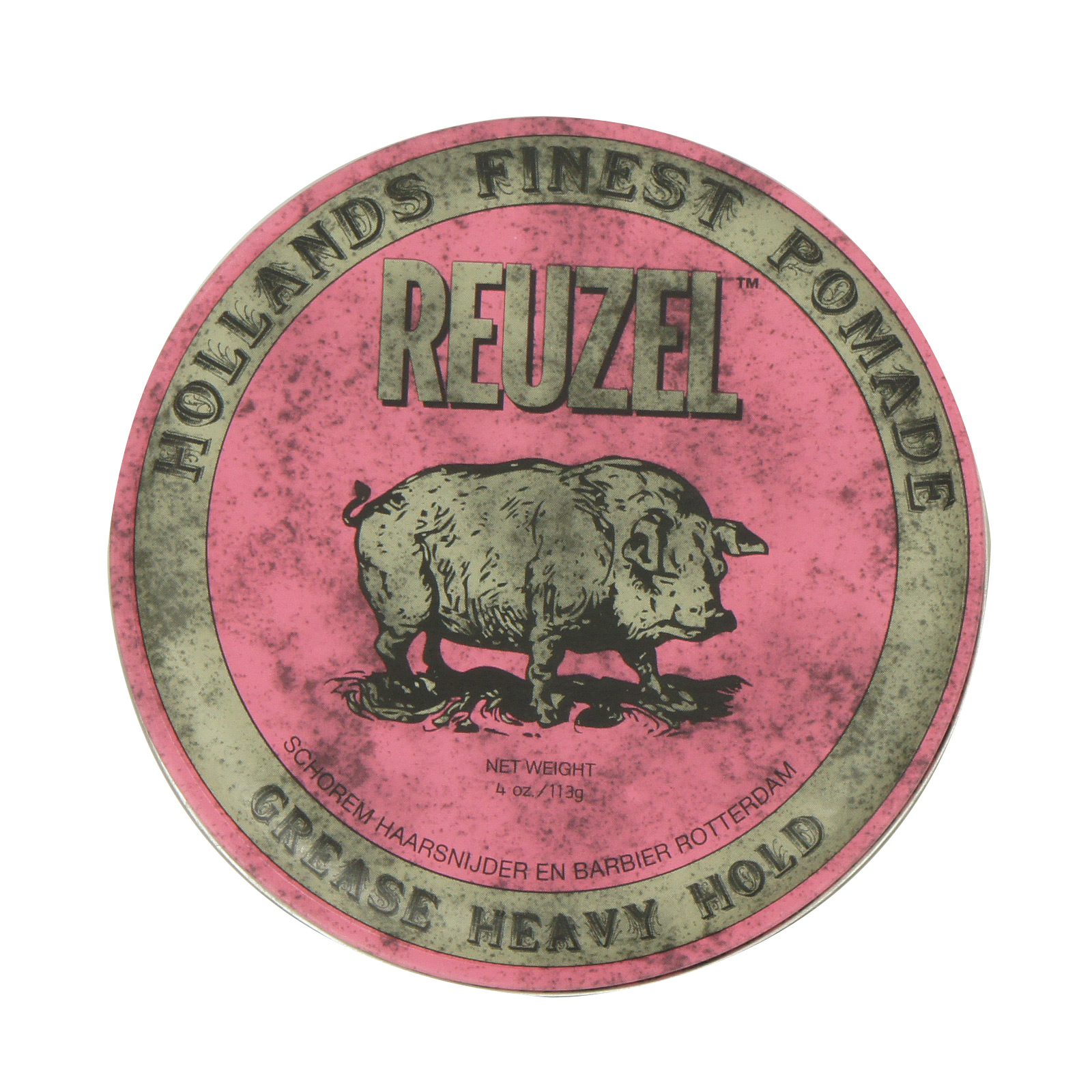 REUZEL PINK Strong Heavy Hold Grease Pomade 4Oz 113g Free