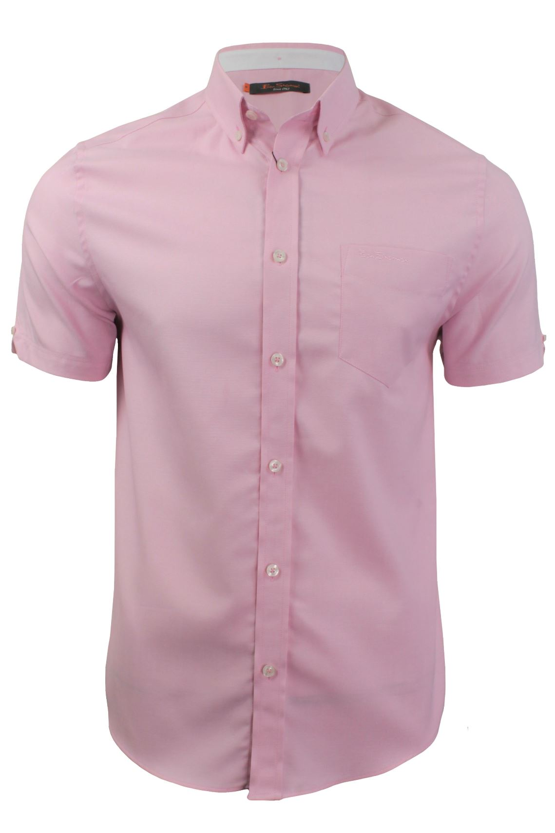 Mens short sleeved oxford shirt by ben sherman for Mens short sleeve oxford shirt